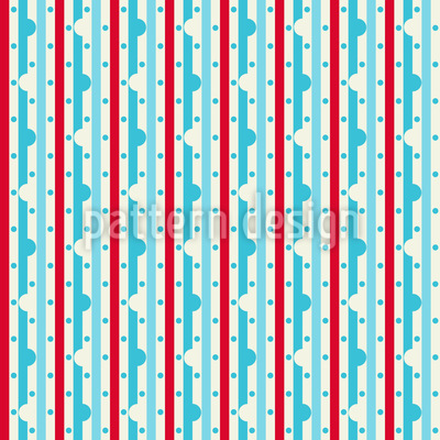 Dewdrop On Stripe Repeat Pattern