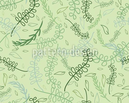Wirbelnde Blätter Im Frühling Nahtloses Muster