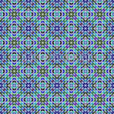 Irisierendes Mosaik Nahtloses Vektormuster