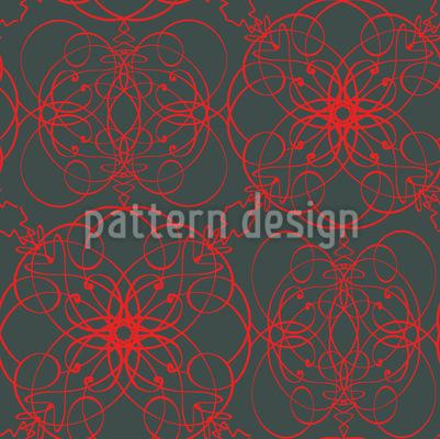 Florale Zeichen Muster Design