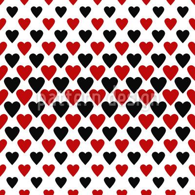 Herz Königinnen Designmuster