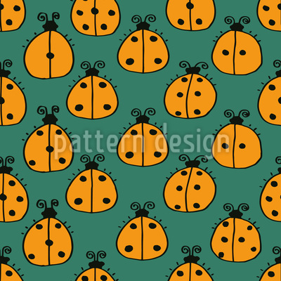 Counting Ladybugs Seamless Pattern
