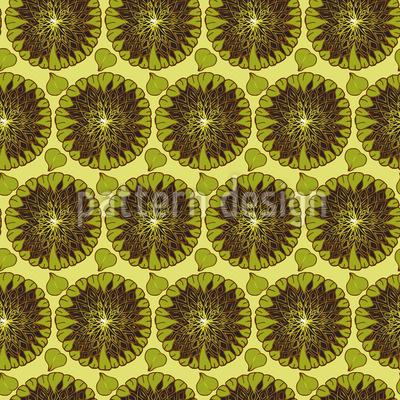 Überreife Sonnenblumen Nahtloses Vektor Muster