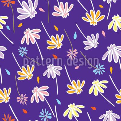 Flowers In The Wind Vector Design