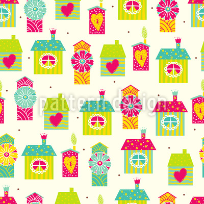 Homes Sweet Homes Repeating Pattern