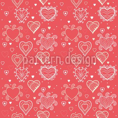 Romantik Mit Herz Musterdesign