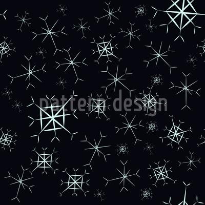 Sparkling Snowflakes Seamless Pattern