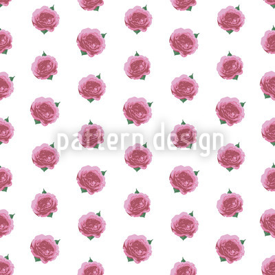 Splendid English Roses Vector Pattern