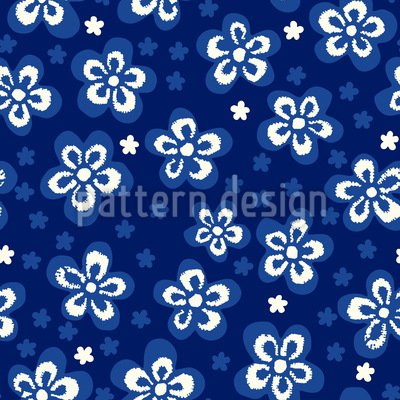 Flowers And Pixels Seamless Pattern