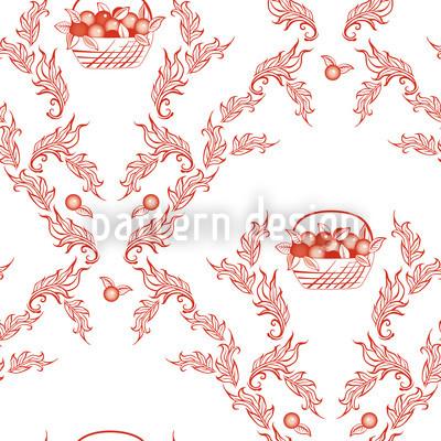 Petit Panier Rouge Vektor Design