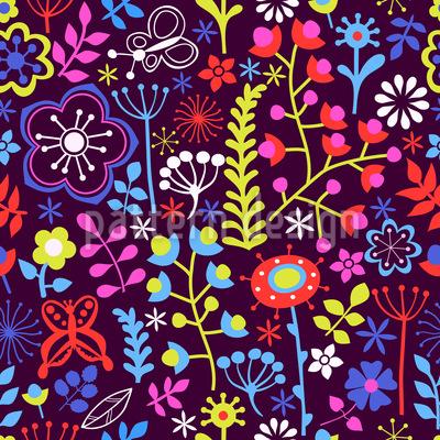 Sommerblumen Magie Musterdesign