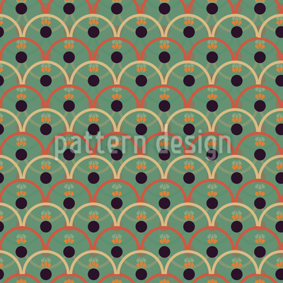 Ondas Y Circulos Repeating Pattern