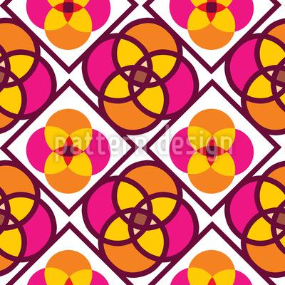 Blumen Kacheln Vektor Ornament