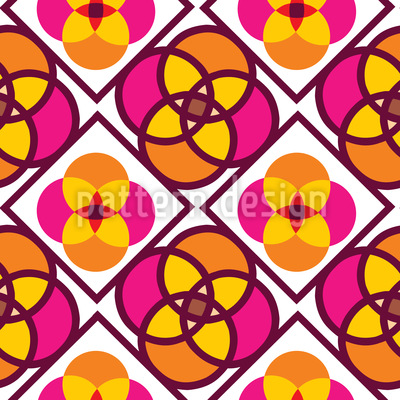 Flower Tiles Vector Ornament