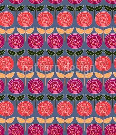 Rows Of Roses Vector Design