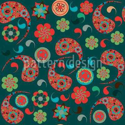 Partyspass Mit Paisleys Vektor Design