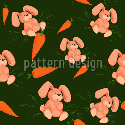 My Bunny Loves Carrots Repeating Pattern