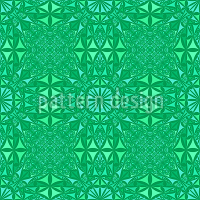 Smaragd Glas Nahtloses Muster