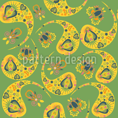 Paisley In The Spring Pattern Design
