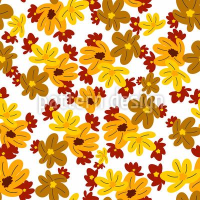 Die Blumen Fallen Nahtloses Muster