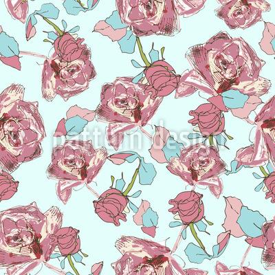 Auf Rosen Gebettet Muster Design