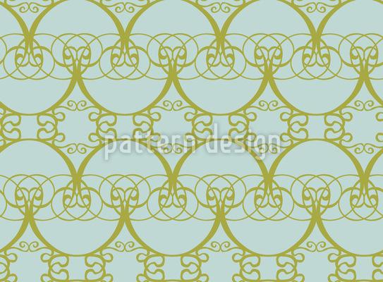 Romantische Arkaden Nahtloses Vektor Muster