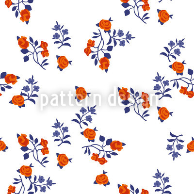 Mille Fleurs On White Seamless Pattern