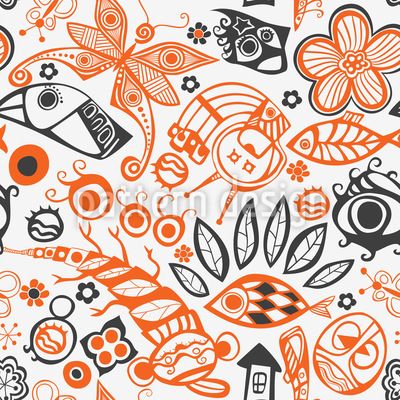The Art Of Symbolism Seamless Vector Pattern Design