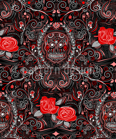 Death And Roses Repeat Pattern