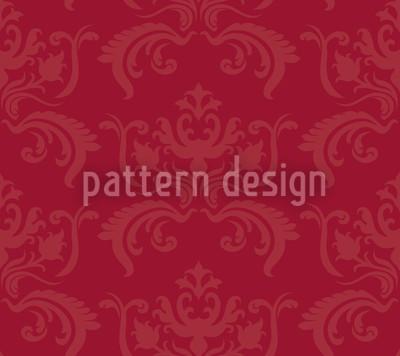 Portos Baroque Red Vector Pattern