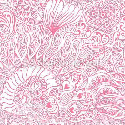 Reef garden romance Pattern Design