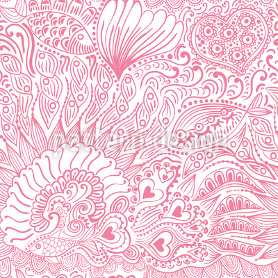 Reef garden romance Seamless Vector Pattern Design