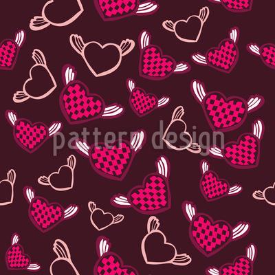 Sweet fantasy chess heart Pattern Design