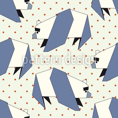 Papier Panda Polkadot Nahtloses Muster
