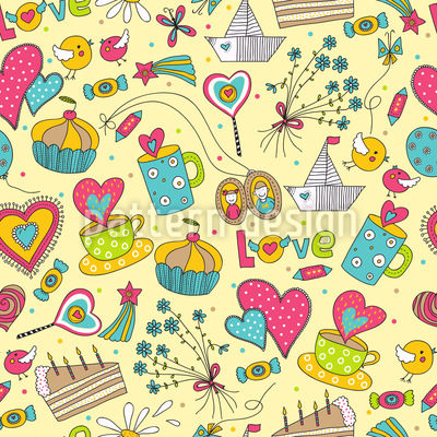 Leisure Romance Vector Pattern