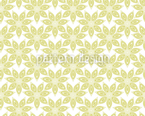 Anis Blüten Rapportiertes Design