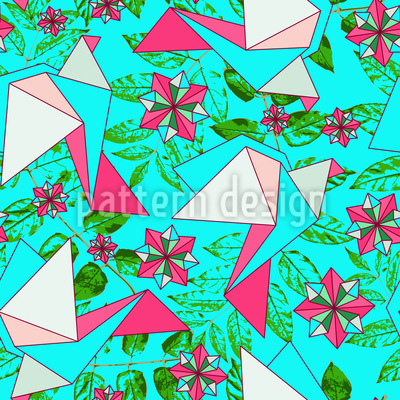 Origami Birds In Paradise Pattern Design