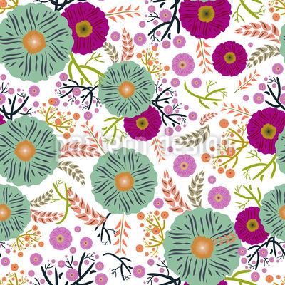 Florale Illusion Vektor Muster