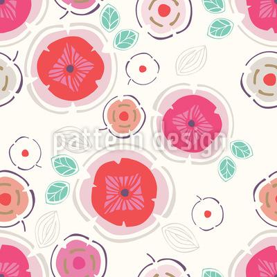 Zauberhafte Patchwork Blumen Rapport