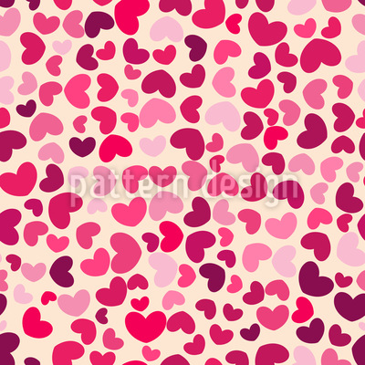 So Many Hearts Seamless Vector Pattern Design