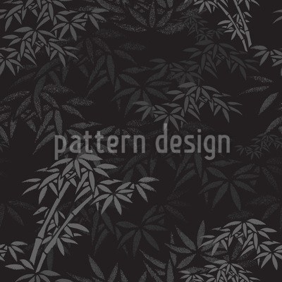 Nachts Im Bambus Wald Nahtloses Vektormuster