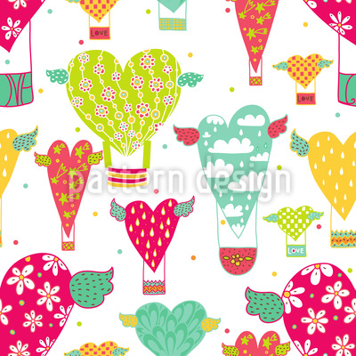 Take The Heart Balloon Vector Pattern