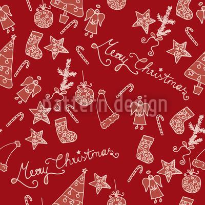 Frohe Weihnachten Designmuster