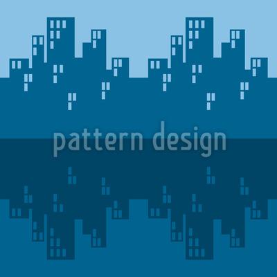 Der Skyline Blues Nahtloses Muster