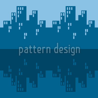 The Skyline Blues Seamless Vector Pattern Design