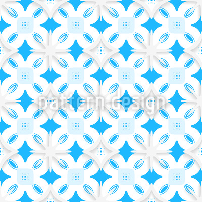 Paper Made Snowflakes Seamless Vector Pattern