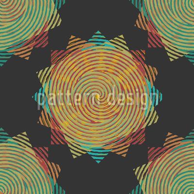 Sterne Mit Fingerabdruck Musterdesign
