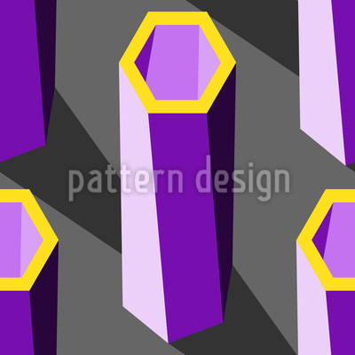 Hexagon Säulen Rapportiertes Design