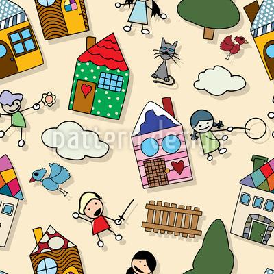 Wir Spielen Vorm Haus Musterdesign