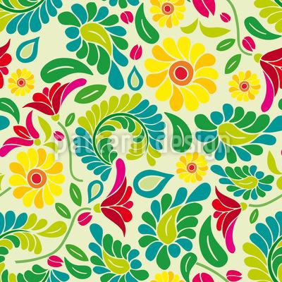 Polnischer Blumen Traum Designmuster